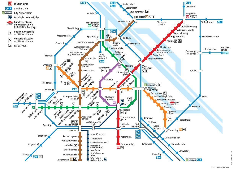 地図地下鉄-ウィーン-ウィーンの...